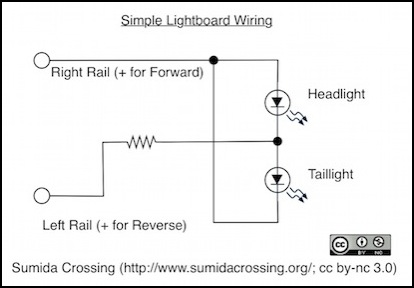 DCC and Lightboards Locomotive Headlights Wiring Diagram on circuit diagram, headlight connector diagram, headlight repair, bmw 325i diagram, switch diagram, headlight parts diagram, ignition diagram, 2008 chevy impala transmission diagram, 2007 mazda 6 headlight diagram, sc300 engine bay diagram, 2000 nissan maxima hoses diagram, fuse box diagram, headlight wire harness, headlight socket diagram, 2007 escalade parts diagram, radio shack rheostat diagram, headlight assembly, headlight cover, international 4700 fuse panel diagram, headlight harness diagram,